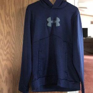 Navy blue under armor hoodie